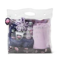 Simple Pleasures® Beautiful Moments Slipper & Wrap Tote Set in Peony Plum