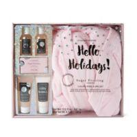 Lila Grace® Robe & Spa Gift Set in Vanilla Brown Sugar Pink