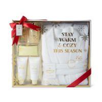 Lila Grace® Robe & Spa Gift Set in Vanilla Brown Sugar White