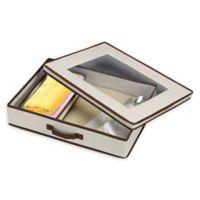 Villacera Tabletop Accessories Storage Box in Brown