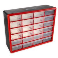 Stalwart® 24-Drawer Storage Organizer Box in Red