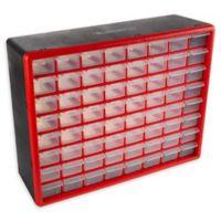 Stalwart® 64-Drawer Storage Organizer Box in Red