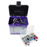 Stalwart 4-Drawer Storage and Tool Box in Purple