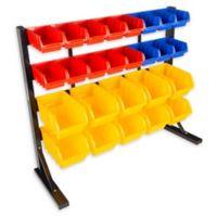 Stalwart® 26-Compartment Storage Rack Organizer in Multicolor