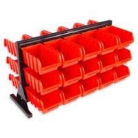 Stalwart® 30-Compartment Storage Rack Organizer in Red