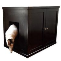 Extra-Large Wooden Cat Litter Cabinet in Espresso