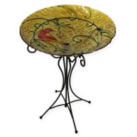 Cardinal Birdbath in Yellow