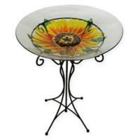 Sunflower Birdbath in Clear
