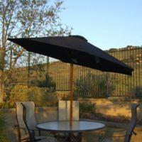 LB International 9-Foot Market Umbrella in Brown/Black