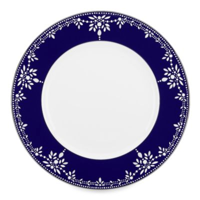 Marchesa by Lenox® Empire Pearl Indigo Dinner Plate  sc 1 st  Bed Bath u0026 Beyond & Buy Navy Blue Dinner Plate from Bed Bath u0026 Beyond