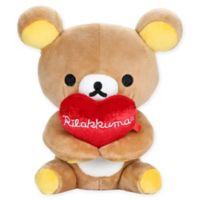 Rilakkuma™ Holding Heart Bear Plush Toy in Brown