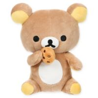 Rilakkuma™ Bear Eating a Cookie Plush Toy in Brown