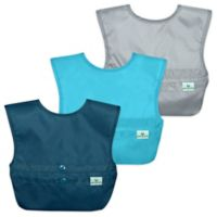 green sprouts® 3-Pack Snap & Go® Easy-Wear Bib Set in Blue