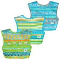 green sprouts® 3-Pack Snap & Go® Easy-Wear Bib Set in Green Safari