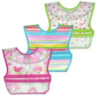 green sprouts® by i play.® 3-Pack Snap & Go Roll-Up Bibs in Pink Berry