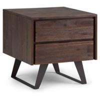 Simpli Home Lowry Side Table in Distressed Charcoal/Brown