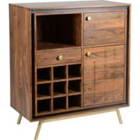 Moe's Home Collection Obra Bar Cabinet in Dark Brown