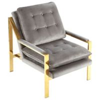Madison Park™ Polyester Upholstered Stefka Chair in Grey