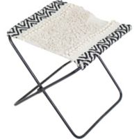 Ren-wil Cotton Upholstered Silvan Bench in Natural/black