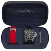 Nautica® Bayside Men's 45mm NAPBYS007 Chronograph Watch Box Set