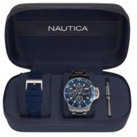 Nautica® Bayside Men's 45mm NAPBYS006 Chronograph Watch Box Set