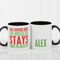 Funny Christmas Quote Personalized 11 Oz. Coffee Mug- Black