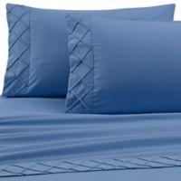 Jill Morgan Forever Soft Diamond Hem Twin Sheet Set in Blue
