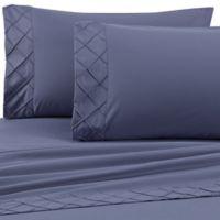 Jill Morgan Forever Soft Diamond Hem Twin Sheet Set in Stone Blue