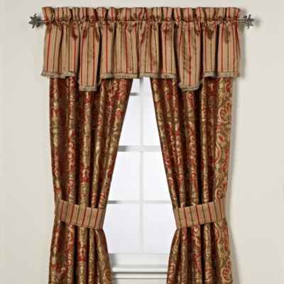 Austin Horn Classics Botticelli Window Curtain Panel Pair and Valance