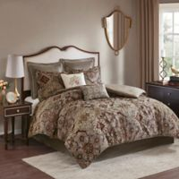 Madison Park Hillrose Jacquard 8-Piece Queen Comforter Set in Red