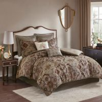 Madison Park Hillrose Jacquard 8-Piece California King Comforter Set in Red