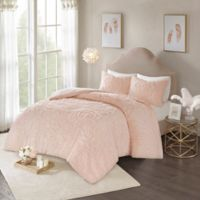 Madison Park Laetitia 3-Piece King Comforter Set in Blush