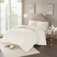 Madison Park Laetitia King/California King Duvet Cover Set in Ivory
