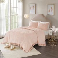 Madison Park Laetitia King/California King Coverlet Set in Blush