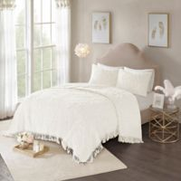 Madison Park Laetitia King/California King Coverlet Set in Ivory