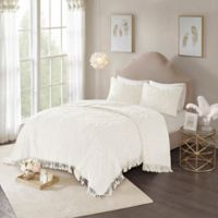 Madison Park Laetitia Full/Queen Coverlet Set in Ivory