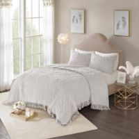 Madison Park Laetitia King/California King Coverlet Set in Grey