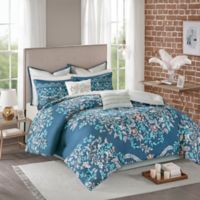 Madison Park Eden Reversible 8-Piece King Comforter Set in Navy