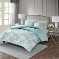 Madison Park Marian King/California King Duvet Cover Set in Aqua