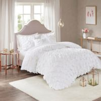 Madison Park Octavia Full/Queen Duvet Cover Set in White