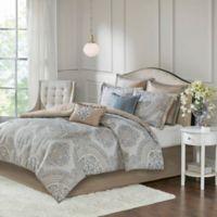 Madison Park Abella 8-Piece Reversible California King Comforter Set in Seafoam