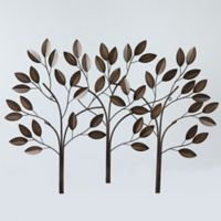 789f005fcb Three Metal Trees 28.5-Inch x 39.5-Inch Wall Art