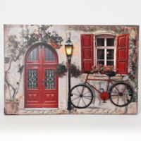 Winsome House Tuscan Cottage & Bicycle Wood Wall Art