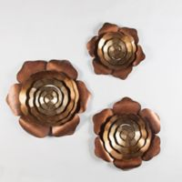 Winsome House Metal Rose Wall Art (Set of 3)