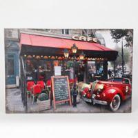 Winsome House Fresco Cafe & Car Wood Wall Art