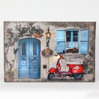 Winsome House Tuscan Cottage & Motorbike Canvas Wall Art