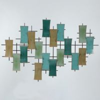 Winsome House Metal Abstract Wall Art