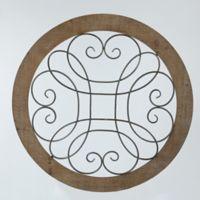Winsome House Circular Scroll Metal Wall Art