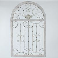 Scroll Window 29.5-Inch x 46.5-Inch Metal Wall Art