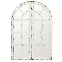 Winsome House Mirror Window Panels in White (Set of 2)